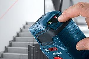 Die intuitive Einhandbedienung macht den GLL 2-10 Professional besonders nutzerfreundlich.