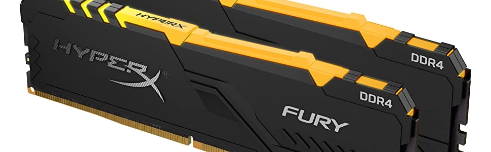 HyperX FURY DDR4 RGB - Kit of 2 (Front Angled)