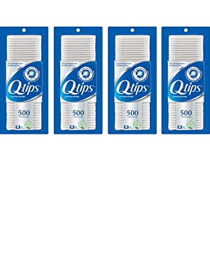 Q-tips Cotton Swabs 500 ct, 4 Pack
