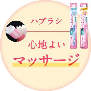 歯ぐきを心地よくマッサージ
