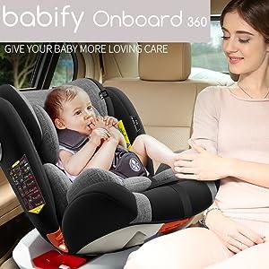 Babify Onboard Silla de Coche Giratoria 360º - Grupos 0/1/2 ...