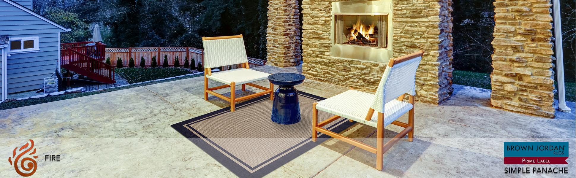 Brown Jordan Prime Label Outdoor Furniture Rug 8x10 Furman Collection Blue Sisal