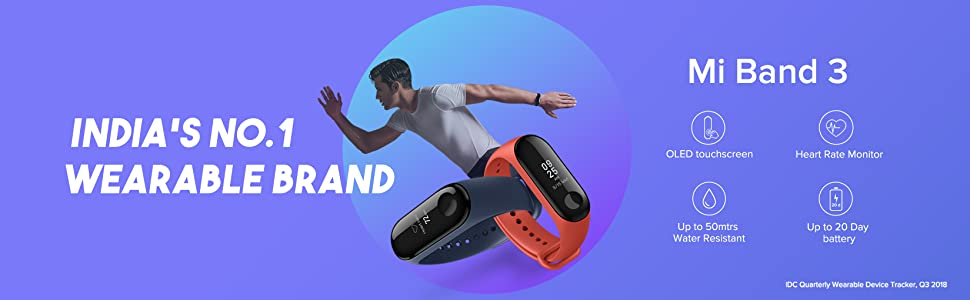 Mi Band 3, Activity Tracker, Wearable, Fitness Band