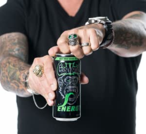 All new high-octane energy drink! Live life in the fast lane.