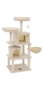 FEANDREA Árbol para Gatos, Rascador para Gatos con Postes Recubiertos de Sisal, Varias Plataformas, Centro de Actividades para Gatos Beige PCT90M: Amazon.es: Productos para mascotas