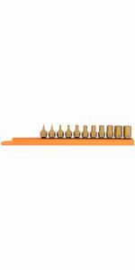socket bit, tool sets, torx, phillips, slotted screwdriver, tamperproof, chrome, steel, t-handle