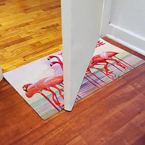 flamingo paradise;doormat;low profile