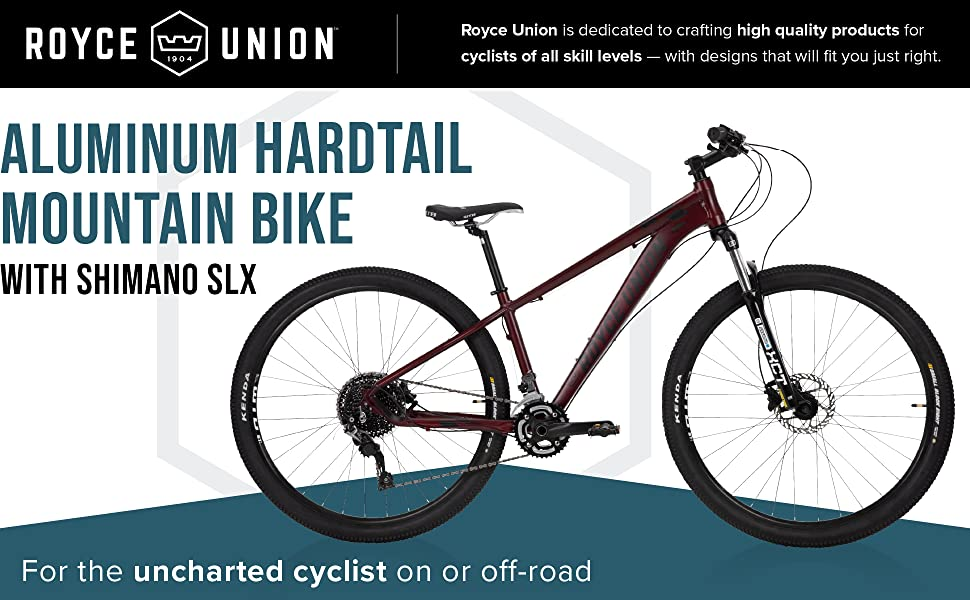 Aluminum Hardtail Mountain Bike with Shimano SLX. For the uncharted cyclist on or off-road