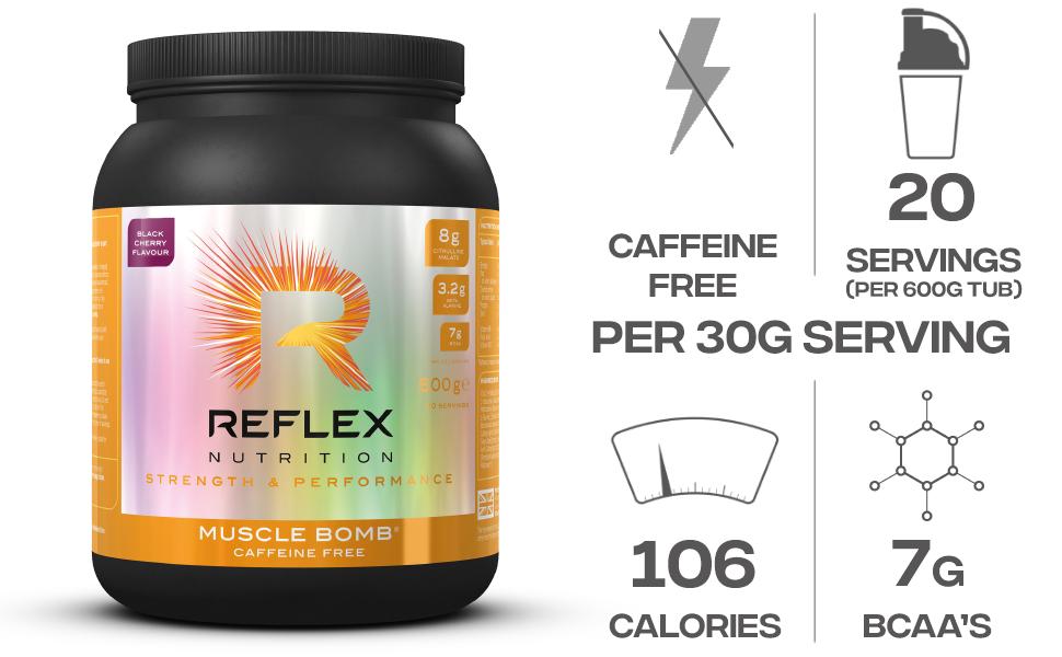 Reflex Nutrition Muscle Bomb Caffeine Free Black Cherry - 600 ...