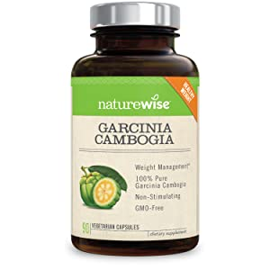 NatureWise Pure Garcinia Cambogia,100% Natural HCA Extract Supports Weight Loss and Curbs Appetite