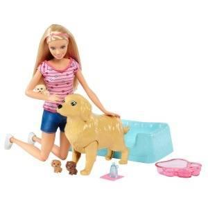 Barbie Newborn Pups Doll & Pets