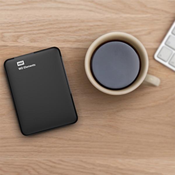 WD 500GB Elements Portable External Hard Drive - USB