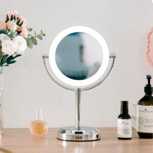 EKO; bathroom; mirror; sensor; light; make-up; beauty