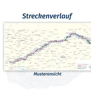 Streckenverlauf, Fahrradführer, Esterbauer, Bikeline, Kompass, Fahrrad, Tour, Radfahren