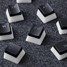Translucent keycaps designed to complement RGB lighting