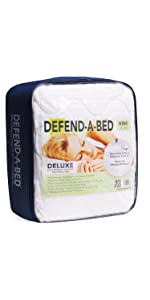 Waterproof mattress pad, mattress protector, defend-a-bed, quilted mattress protector