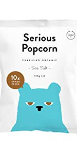 serious popcorn, popcorn, healthy snacks, snacks, new zealand, sea salt, multipack