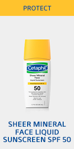 Sheer mineral face liquid sunscreen SPF 50