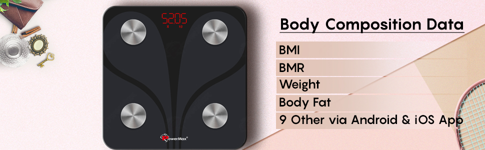 Powermax Fitness BCA-130 Weight Scale with BMI, BMR, Weight, Body Fat
