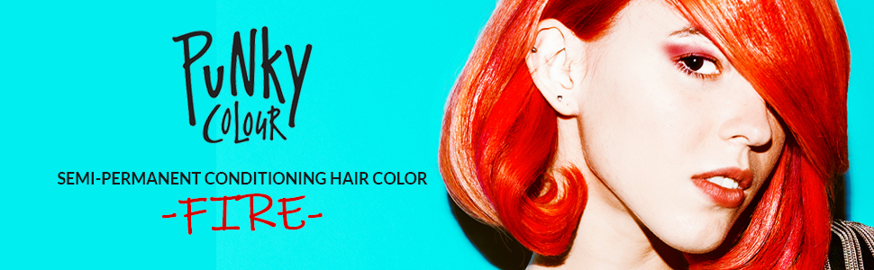 Punky Colour Semi Permanent Hair Color, punky red hair color, punky Fire