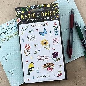 Katie Daisy Planner Stickers