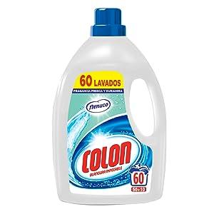 Colon Nenuco - Detergente para Lavadora, adecuado para Ropa Blanca y de Color, Formato Gel - 60 dosis: Amazon.es: Salud y cuidado personal