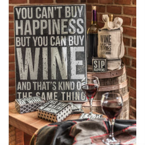 funny drinking signs wine alcohol gift decor funny saying primitives by kathy towel
