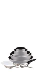Tefal L6509105 Ingenio Expertise - Juego de Sartenes Aluminio con ...