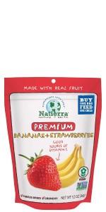 fruit, banana, fresh, strawberry; mango; blueberry