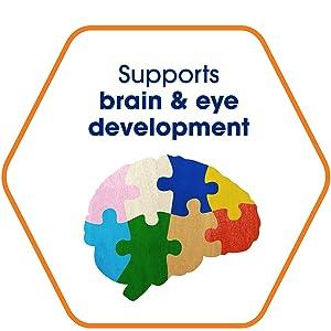 Supports brain amp; eye development