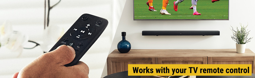 Works with your TV remote control