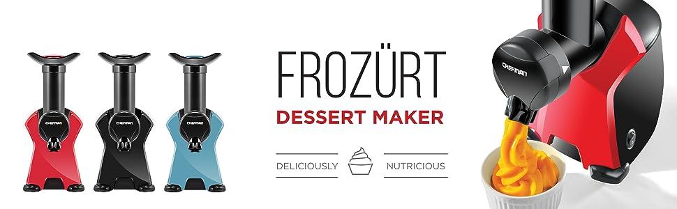 ice cream maker, sorbet maker, ice cream machine, sorbet machine, healthy, easy, dessert