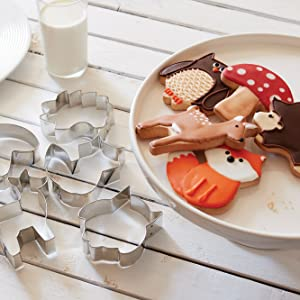 Cookie Cutter sets; woodland animal cookie cutters; stainless steel cookie cutters