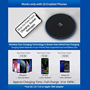 charging dock qi wireless charger