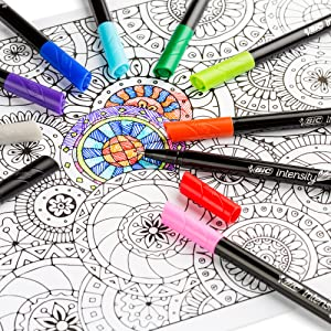 Fineliner bullet journaling adult colouring