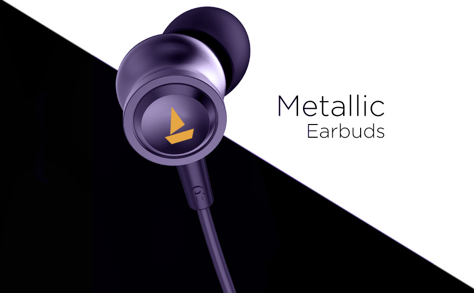 Metallic earbuds