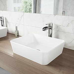 VIGO Matte Stone Vessel Bowl Bathroom Sinks