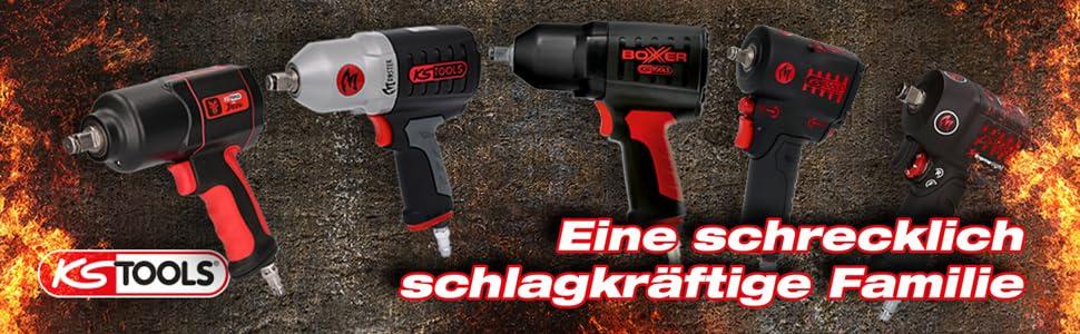 "1600Nm inkl KS TOOLS 1//2/"" Druckluft Schlagschrauber THE DEVIL max Nüsse 3-teil"