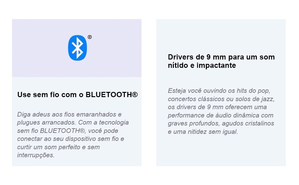 Headphones intra-auriculares sem fio WI-C200 Fone Sony