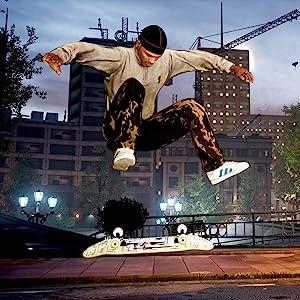 image of skater in game doing flip trick