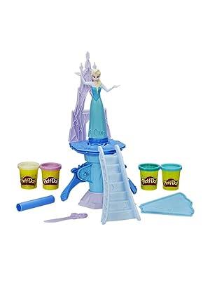 Frozen elsa play doh massinha da Elsa castelo frozen