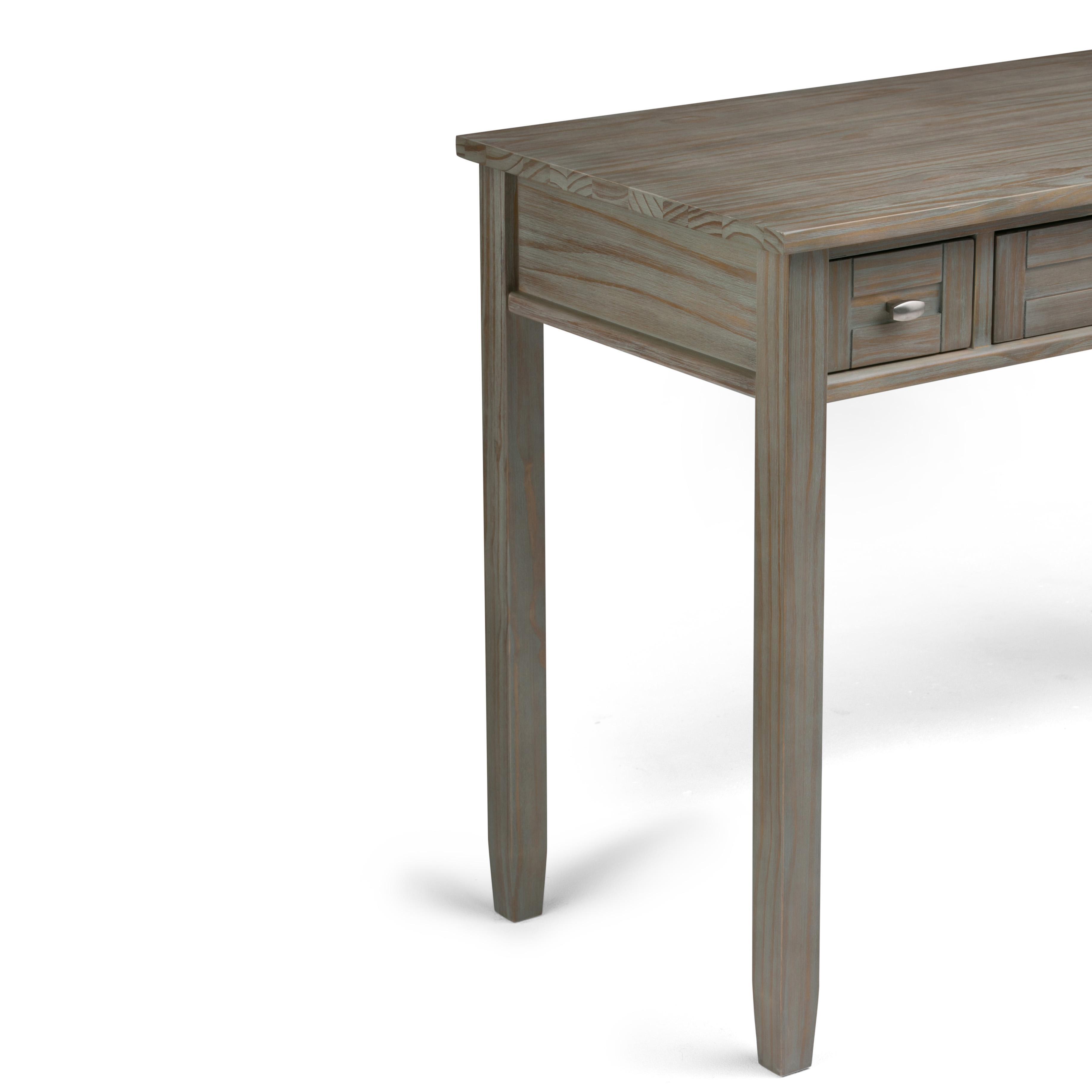 simpli home warm shaker solid wood desk distressed grey kitchen dining. Black Bedroom Furniture Sets. Home Design Ideas