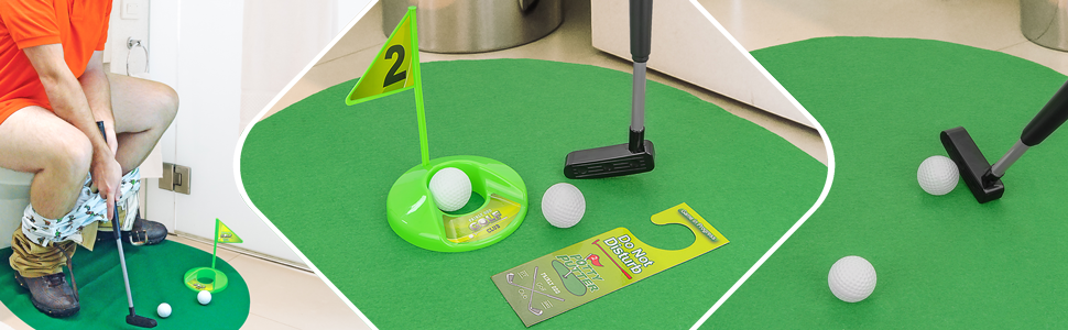 Fairly Odd Novelties Potty Putter Toilet Time Golf Game