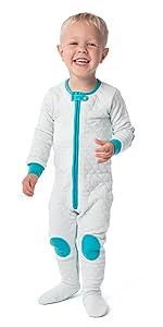 sleepsie quilted cosy romper baby pajamas PJs