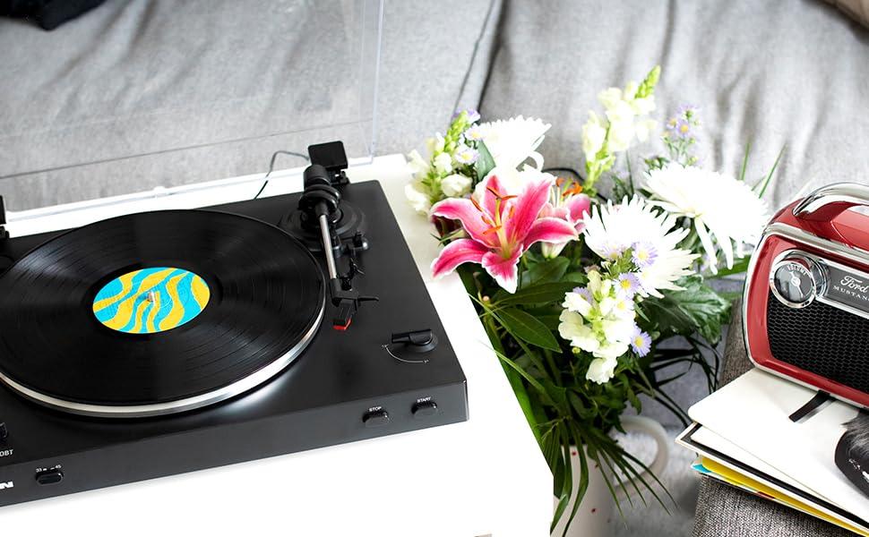 ION Audio Pro200BT - Plato giradiscos con transmisión inalámbrica ...