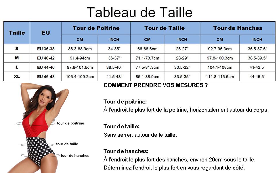 Chaos World Femme Maillot de Bain 1 Pi/èce Floral Grande Taille Amincissante Slim Bikini Col V Dos Nu