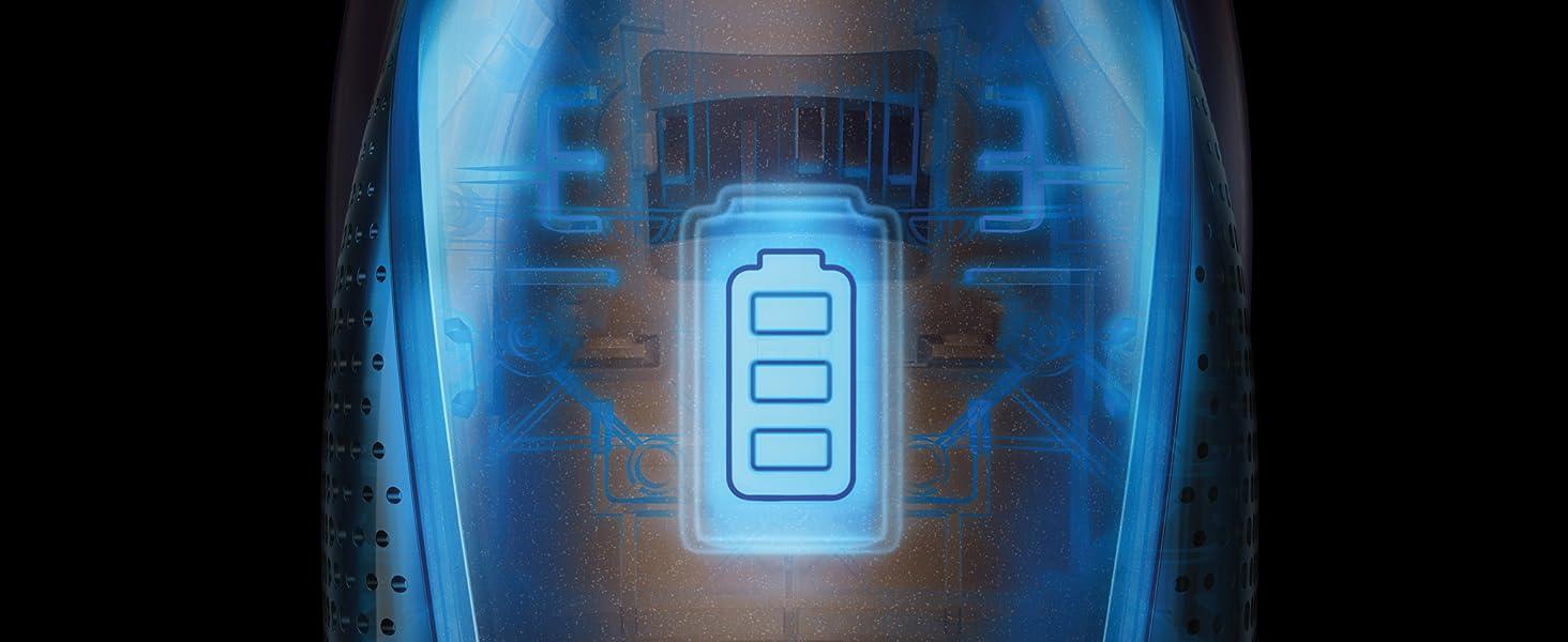 30% mer energi jämfört med ett vanligt litiumbatteri, kan användas i upp till 45 minuter.