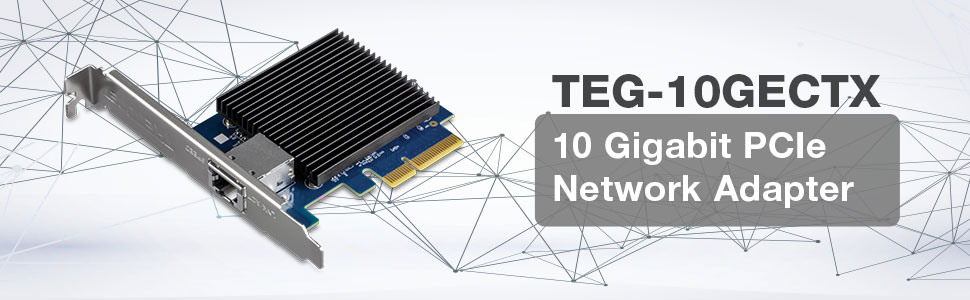 10GBase-T Network Adapter, 10G Network Adapter, 10G NIC, 10G Ethernet Adapter, 10G Copper Adapter