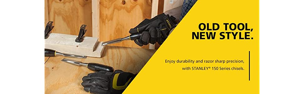 Stanley 16 150 150 Series Short Blade 3 Piece Wood Chisel