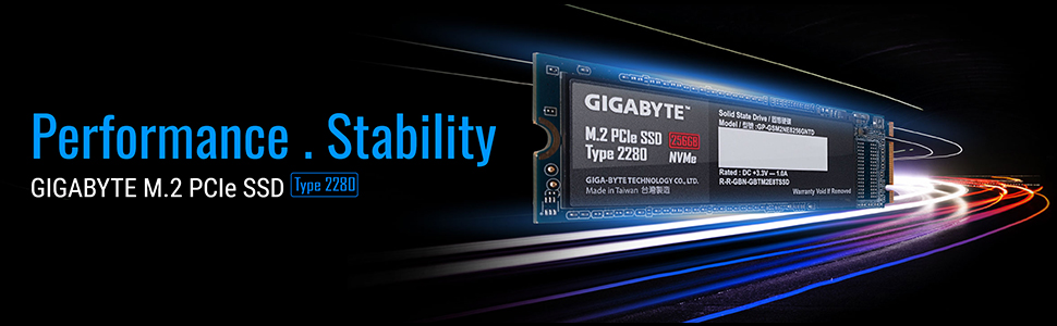 GIGABYTE M.2 PCIE SSD NVME 3.0 PCIE3.0 SATA PERFORMANCE STABILITY TYPE 2280 SOLID STATE DRIVE
